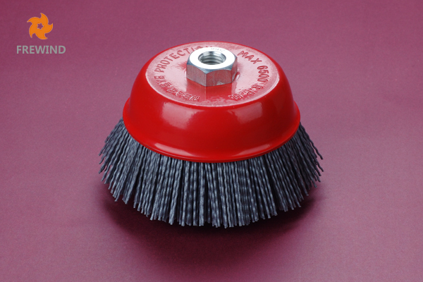 CUP BRUSH NYLON WIRE